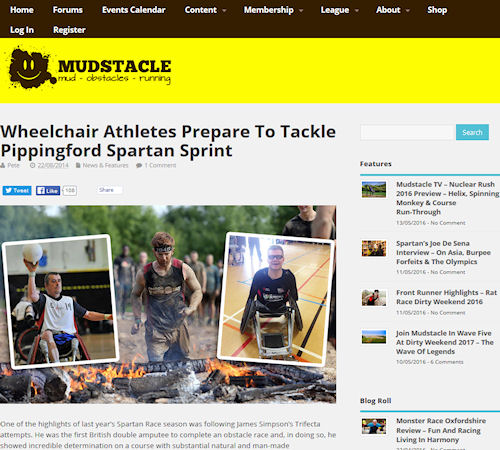 Mudstacle - Wheelchair athletes prepare to tackle Pippingford Spartan sprint